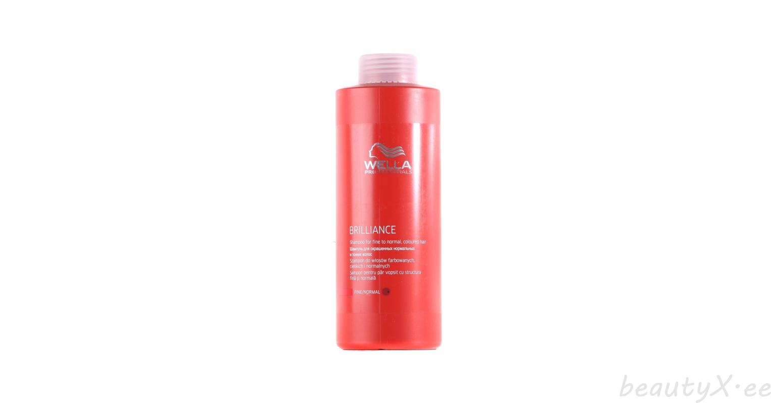 Wella Brilliance шампунь для окрашенных нормальных и тонких волос
